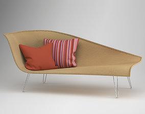 3D model Janus et cie Avanda Recamier rattan