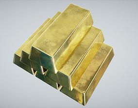 Gold Bars 3D asset
