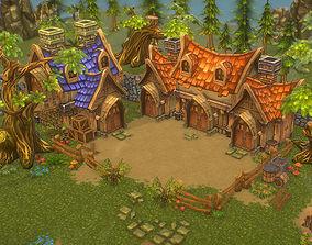 3D model Low Poly Fantasy Environment Level Set