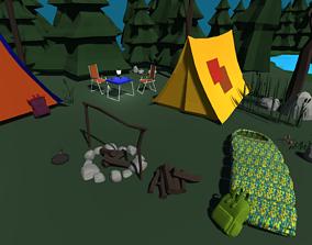 Camping Pack 3D asset