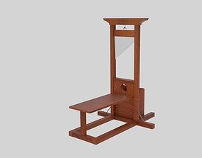 3D model low-poly Guillotine