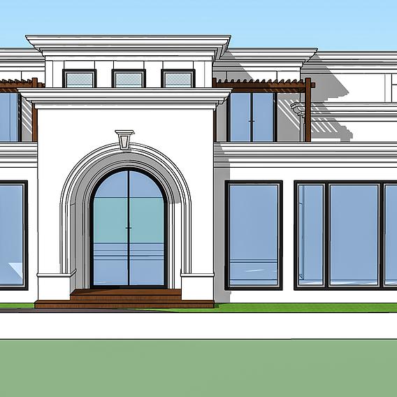 Classical villa design