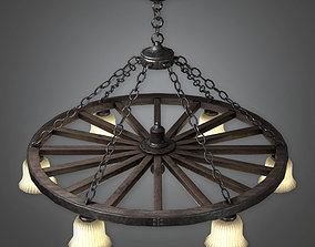 Old Chandelier - DVB - PBR Game Ready 3D model