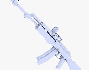 3D asset AK47 Assault Rifle