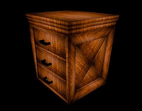 wooden table Office desk 3D