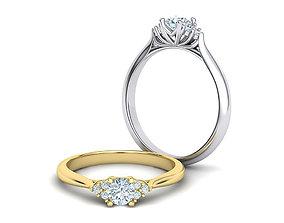 7 stones Engagement ring 3dmodel