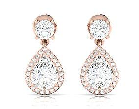 Women earrings 3dm render detail jewel platinum
