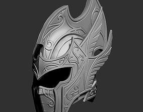 3D model Zbrush Elf fantasy helmet