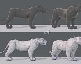 Tiger base for game 3D asset