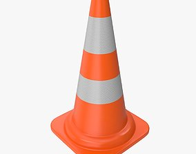 3D asset game-ready PBR Traffic Cone