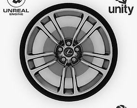 3D model Wheel Steel-Chrome Alloy Rim Lexus 19 inch 2
