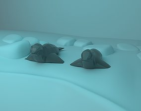 3D asset stylized Low Poly Seal