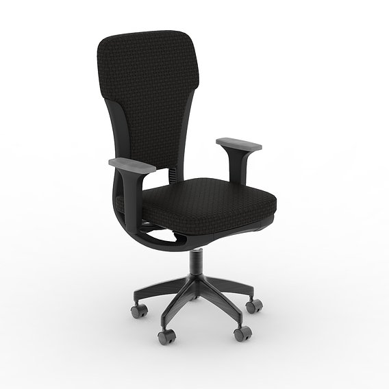 Black Color Headscale Official Chair