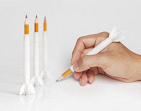 Rocket Pencil Extender 3D print model