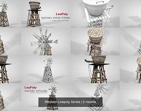 Western Lowpoly Series 3D