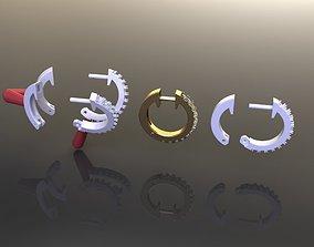 Mid Size Diamond Hoop Earring 1MM50 3D printable model