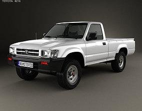 3D Toyota Hilux Double Cab 1988