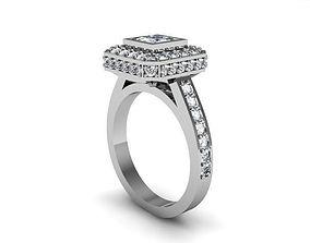 Diamond Ring classic engagement 3D print model