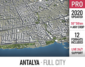 3D model Antalya - city and surroundings