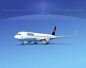 3D Boeing 767-300 Lufthansa