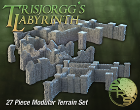 Stone Walls Modular Terrain Complete 3D printable model 1