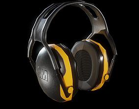 3D asset 3M Peltor X-Series Ear Muffs