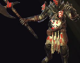 Heavy knight 3D asset animated
