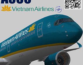 Airbus A350-900 XWB Vietnam Airlines 3D asset