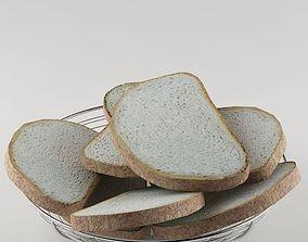 Basket bread 01 3D