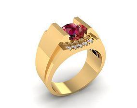 3D printable model 1209 korea Diamond Ring for men