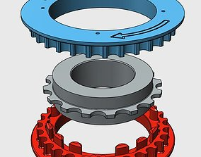 Strida bike rear belt drive 3D printable model