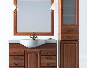 Set of bathroom furniture 3D