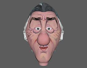caricature of Robert De Niro 3D asset