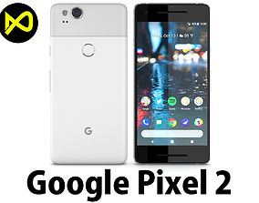 3D Google Pixel 2 Clearly White