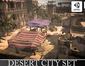 Ancient Egypt Town Set 3D asset