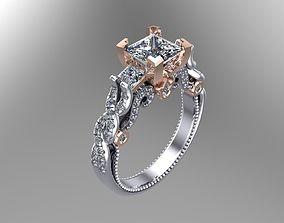 Diamond Princess Verragio rings 3D print model