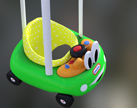 trolley baby toy 3D asset