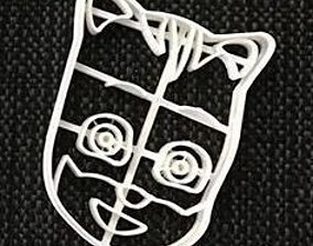 Cookie Cutter Pj Mask Blue 3D print model