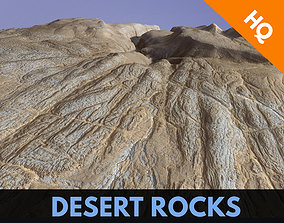 3D asset Cliffs Surface Mountain Desert Terrain 4
