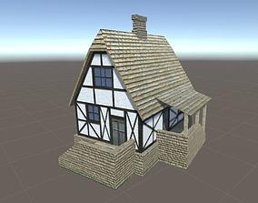 3D model VR / AR ready House medieval