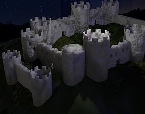 Medieval Fantasy Marble Castle 3D asset