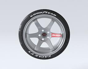 Volk Racing Wheels TE37 and Tires 3D print