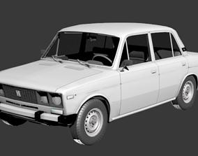 VAZ 2106 3D model game-ready