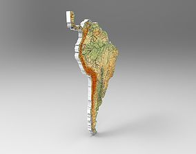 Map of South America 3D model
