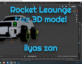 rocket league 3D model model FREE Merc rigged