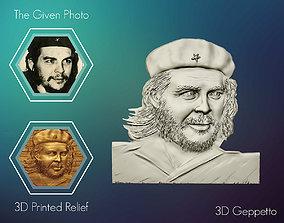 3D Relief sculpture of Che Guevara sculptures