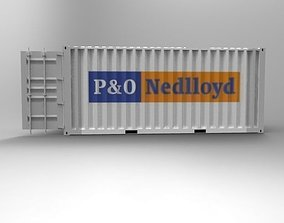 3D print model iso-container 20ft Container