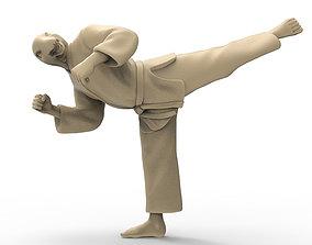 3D printable model Snake Back Kick