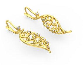 3D printable model Wing Earrings earings