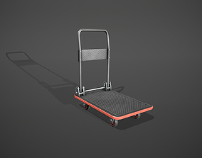 3D model Folding Platform Truck - Trolley - Red Accents